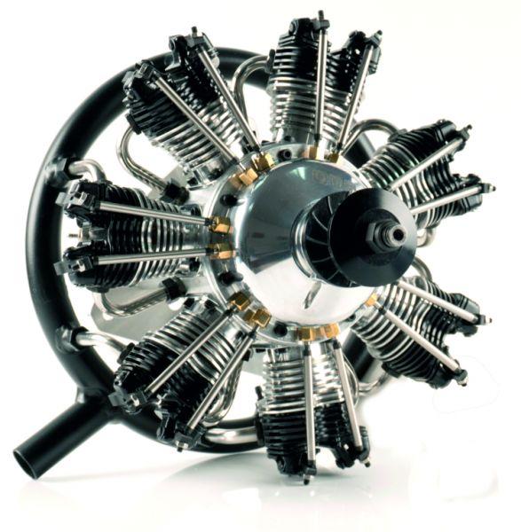 UMS radial-engine , 7 cylinder 77ccm , glow
