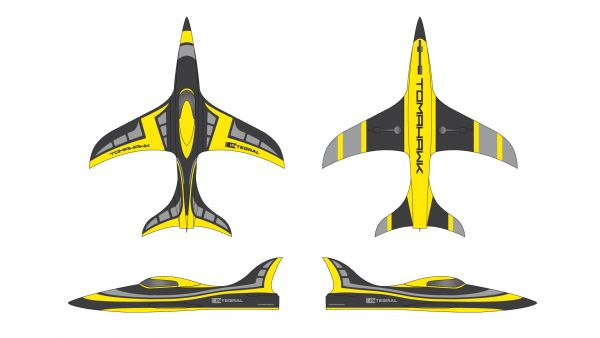 INTEGRAL 2,5m ARF-plus, painted, including tailpipe and tanks ( A-yellow)