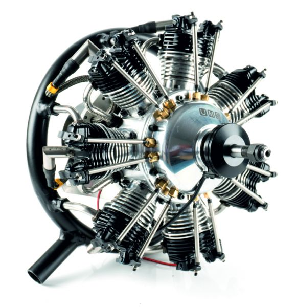 UMS radial-engine, 7 cylinder 90ccm, gas