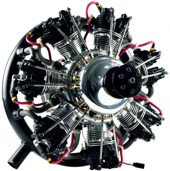 UMS radial-engine, 7 cylinder 260ccm, gas
