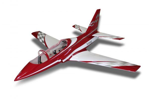 Viper Jet 2,5 m Voll GFK /CFK Bausatz lackiert Typ E dunkelrot