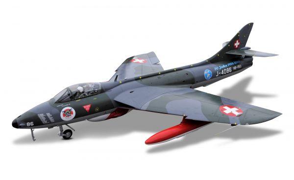 Hawker Hunter 2,32m full composite GFK/CFK kit white