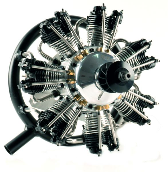 UMS radial-engine, 7 cylinder 35ccm ,glow