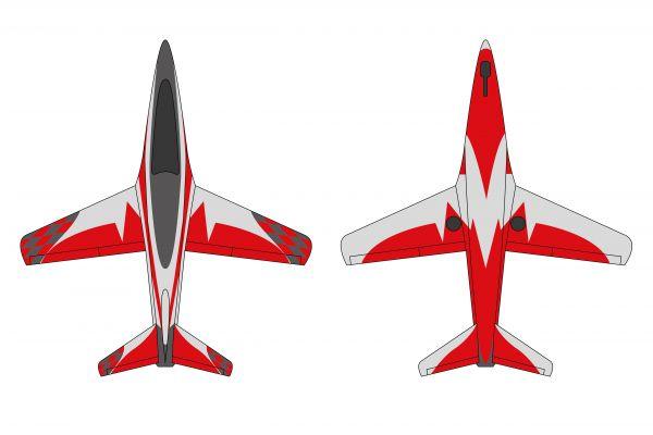 Futura 2,5 m Voll GFK/CFK Bausatz lackiert Typ A rot/silber