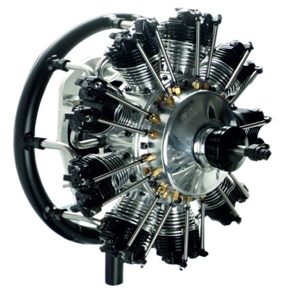 UMS radial-engine , 9 cylinder 99ccm , glow