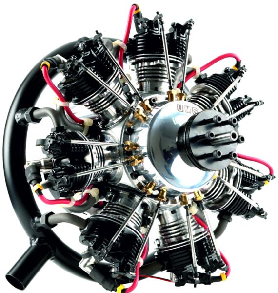 UMS radial-engine , 7 cylinder 160ccm , gas