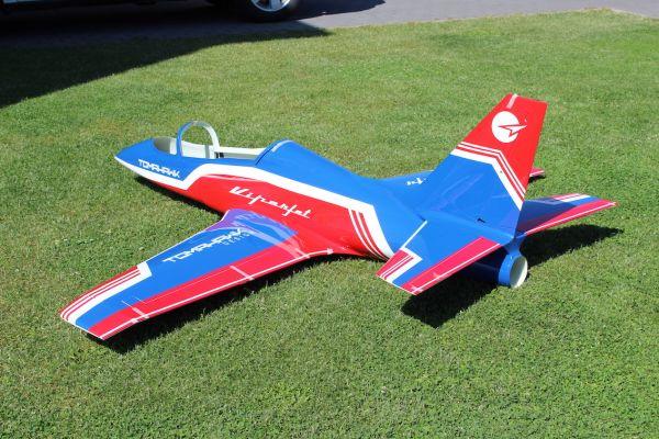 Viper Jet 2,0m Voll GFK/CFK Bausatz lackiert Typ F blau/rot