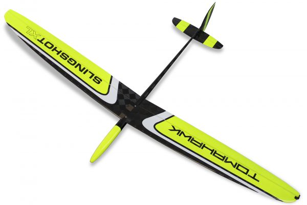"""Slingshot XL """"yellow"""" F3K DLG 1,50m wingspan incl.protection bags"""