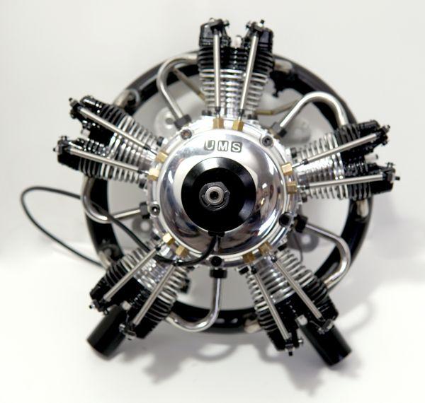 UMS radial-engine, 5 cylinder 75ccm, gas